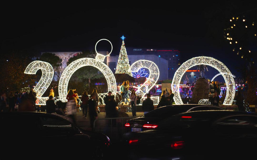 Lights and Christmas Spirit in Tirana